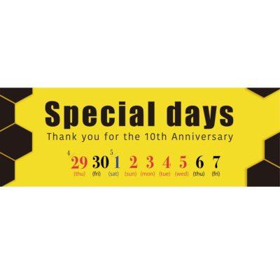 ローシーズ 10th Anniversary 4/29(木)-5/9(日)